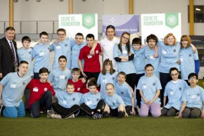 Stefan Johansen shows his support for Scottish Disability Sport