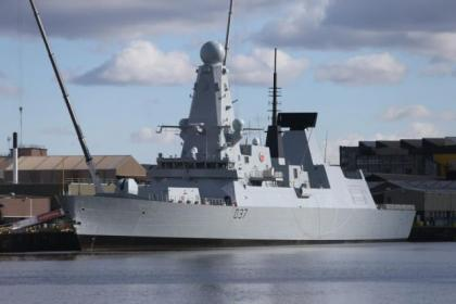 HMS Dauntless is due at King George V Dock tomorrow