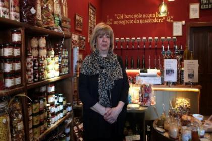 Susan Valentino of Vino Valentino, which stocks a selection of Italian wines on draught