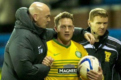 Hat-trick hero Kris Commons collects the match ball at Rugby Park