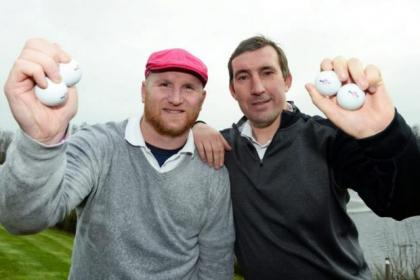 Alan Stubbs, right, was speaking at the John Hartson Foundation golf day