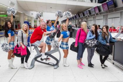 The Rockettes put on a Flashmob performance at Glasgow Airport