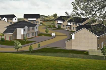An artist's impression of how the new homes will look.