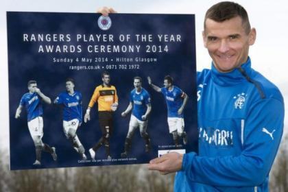 Rangers captain Lee McCulloch promotes the club's Player of the Year Awards ceremony which takes place at the Hilton Hotel on Sunday, May 4