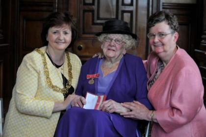 Margaret Miller, 103, was presented with her second British Empire Medal
