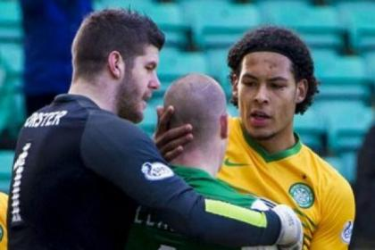 Fraser Forster and Virgil van Dijk have been nominated for top award along with Celtic team-mate Kris Commons and Kilmarnock's Kris Boyd