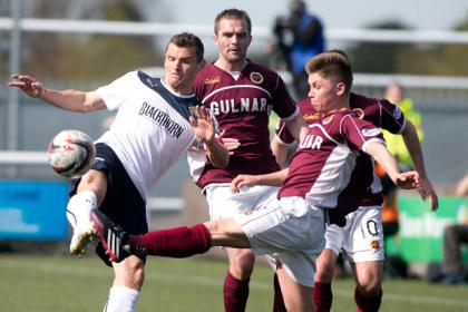 Rangers captain Lee McCulloch (left) and Stenhousemuir's Brian Hodge battle