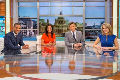 (from the left) Sean Fletcher, Susanna Reid, Ben Shephard and Charlotte Hawkins.