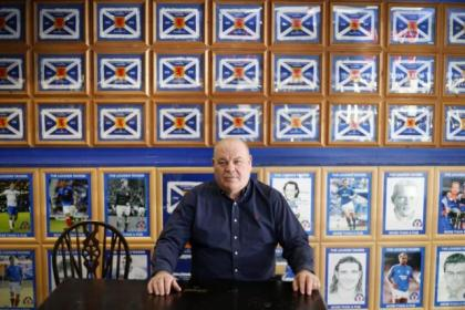Robert Marshall, who has been involved in the formation of Rangers First along with his son, Greg, in the Louden Tavern at Ibrox