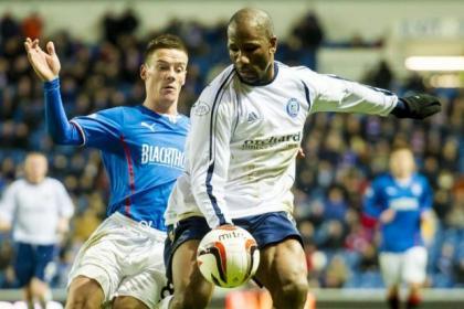 Marvin Andrews lined up against Rangers this season while playing for Forfar Athletic in the SPFL League One