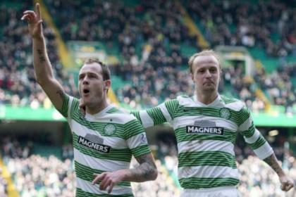 Leigh Griffiths has settled into the team alongside the likes of strike partner Anthony Stokes (left)