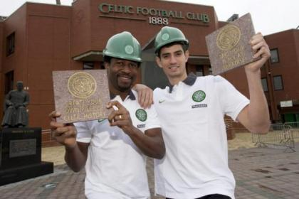 Efe Ambrose and Nir Biton invite fans to own a piece of history at a refurbished Celtic Park
