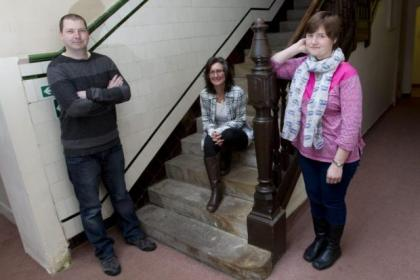 Peter Collison, Judi McDonald and Emma MacIntosh are trying to prevent homelessness in Glasgow