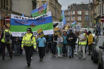 Hundreds of people took  to the streets of Govanhill  to celebrate  Pictures: Jamie Simpson