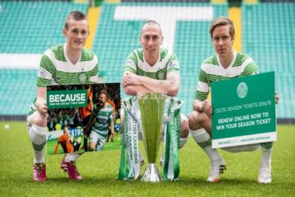 Liam Henderson and Stefan Johansen help Scott Brown launch a season ticket push for 2014/15 with the news that reduced prices have been maintained