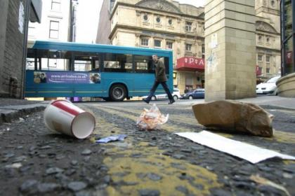 People dropping litter in the streets 'won't be tolerated'.Picture: Mark Gibson