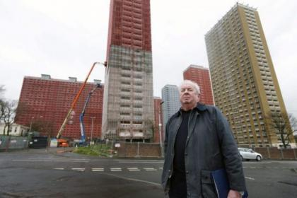 Architect and ex-Red Road resident Philip McCulloch says the flats shouldn't be demolished live on TV Picture: Colin Templeton