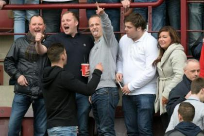 Leigh Griffiths took in the recent Hearts v Hibs Premiership clash