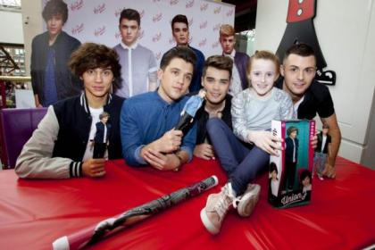 Union J meet Erin Reilly, from Paisley, who was first in linePictures:Mark  Gibson