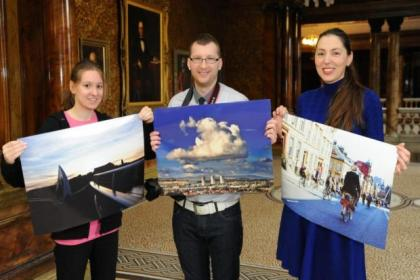 Winners of the Future City Glasgow photography competition were Sarah McAlpine, above, left, winner Istvan Jancso and Simona Ciocarlan