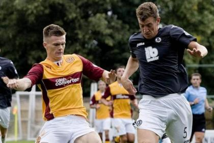Partick Thistle defender Aaron Muirhead is recovering from a knee operation, but is hoping to back to help his side out before the end of the season