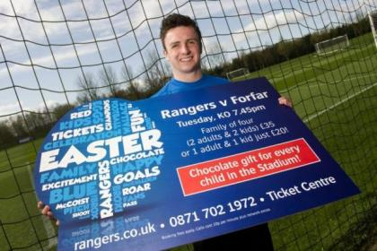 Calum Gallagher promotes tonight's game with Forfar at Ibrox just days after Rangers' Scottish Cup semi-final defeat