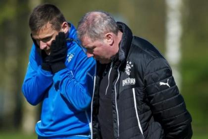 Skipper Lee McCulloch with boss Ally McCoist as the League One champions prepare for the visit of Forfar Athletic tonight