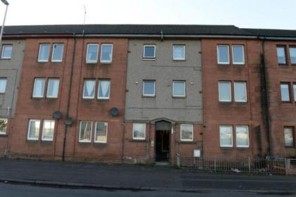 The flat in Renfrew where the woman took ill