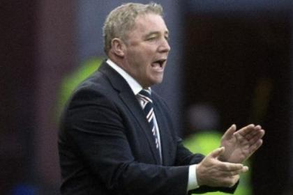 Ally McCoist urges on his players against Forfar on Tuesday night