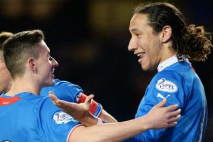 Fraser Aird and Bilel Mohsni helped Rangers to a 3-0 victory over Forfar on Tuesday night and the Ibrox club are just four games away from completing an unbeaten league campaign