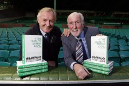 Danny McGrain and myself at the launch of the Quality Street Gang book last year