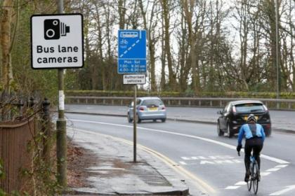 Money from bus lane fines is being used for the council's parking budget shortfall