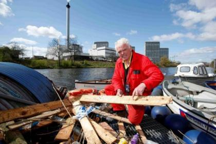 George Parsonage cleared as much of the wood from the Clyde as he could find    Picture: Martin Shields