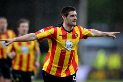 Kris Doolan celebrates putting Partick Thistle in front but the lead was short lived