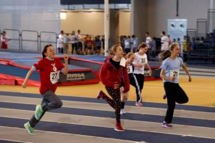 Schoolchildren are taking the opportunity to use Glasgow's new Commonwealth arenas