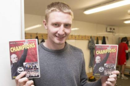 Chris Erskine helped to launch Partick Thistle's First Division champions DVD ahead of this weekend's game with Hibernian