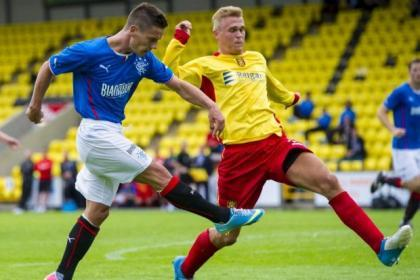 Albion Rovers played Rangers in a cup tie earlier in the season.