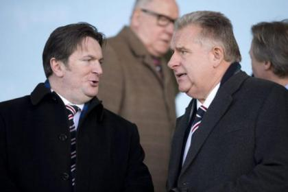 Sandy Easdale and Graham Wallace were joined by Norman Crighton at meeting with the Union of Fans