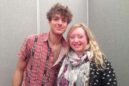 Paolo Nutini with Evening Times reporter Catriona Stewart