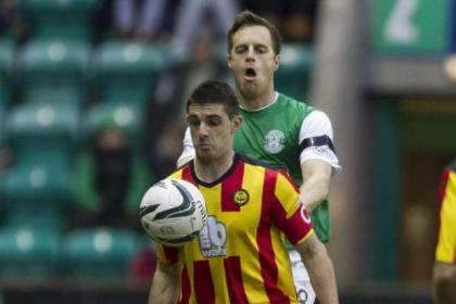 Kris Doolan put Partick Thistle ahead at Hibs earlier in the season but they hit late leveller