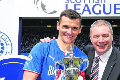 Lee McCulloch lifted the League One trophy with boss Ally McCoist last week