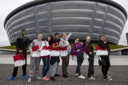 Jobseekers from Quarriers were given a VIP tour of the Hydro