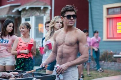 Zac in a scene from his new film Bad neighbours