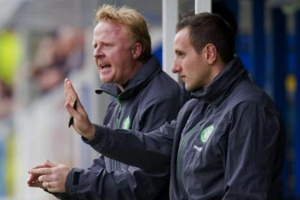 Celtic coaches Stevie Frail and John Kennedy