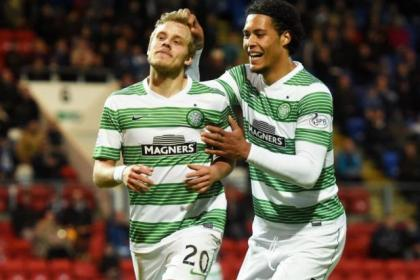 Teemu Pukki and Virgil Van Dijk scored Celtic's second and third goals but St Johnstone's storming comeback earned a 3-3 draw