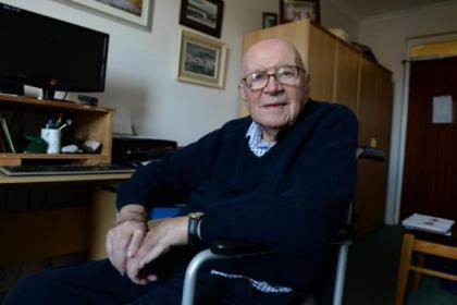 Duncan Campbell at home in Ardrossan, where he is writing the story of Robert Campbell. Picture: Nick Ponty