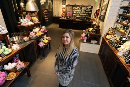 Hailey Jenkins will be managing the new branch of Lush, in Glasgow's Buchanan StreetPicture: Colin Templeton