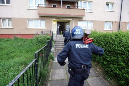 Polce made 10 arrests in the Castlemilk dawn raids