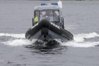 CLYDE PATROL: Powerboat police will be on the River Clyde all through the Commonwealth Games 	 		           Picture: Mark Gibson