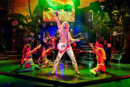 Ben Richards stars as rock star Jaxx in the musical Rock Of Ages